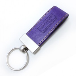 Leather-Look Key Ring, key, ring, fob, leather, purple