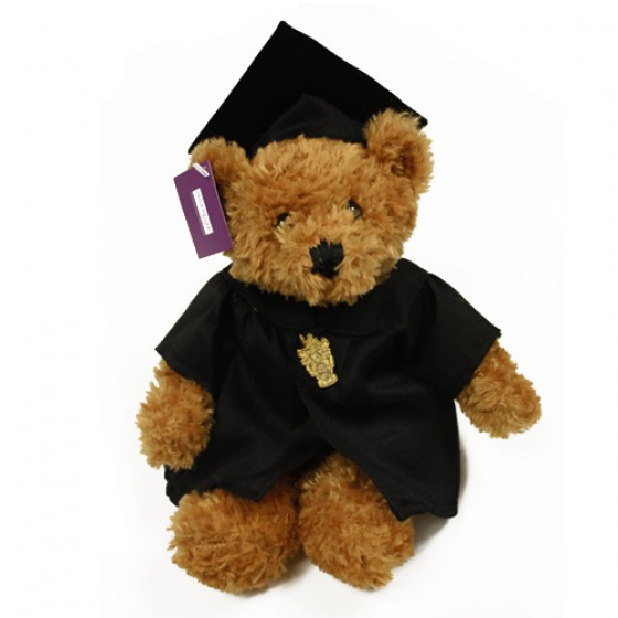 Luxury Graduation Bear, bear, teddy, graduation, cap, gown, badge