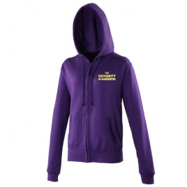 Zipped Ladies Hoodie - Purple, girls hoodie, zipped, purple