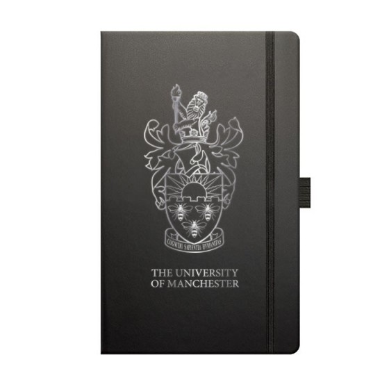 Black & Silver Notebook in Gift Box, book, note, notebook, jotter, moleskine, a5