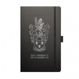 Black & Silver Notebook Without Gift Box, book, note, notebook, jotter, moleskine, a5