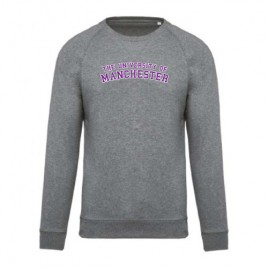 Unisex Organic Crew Neck Sweatshirt - Grey Heather