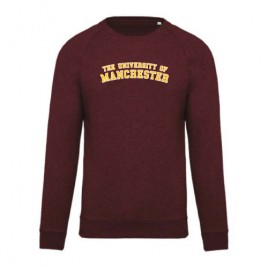 Unisex Organic Crew Neck Sweatshirt - Wine Heather