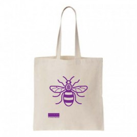Manchester Bee Natural Cotton Shopper