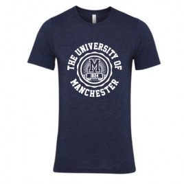 Manchester 1824 Unisex T-Shirt - Heather Midnight Navy