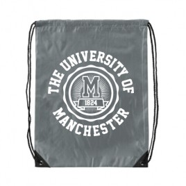 Manchester 1824 Premium Drawstring Bag - Grey
