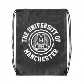 Manchester 1824 Premium Drawstring Bag - Black