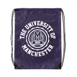 Manchester 1824 Premium Drawstring Bag - Purple