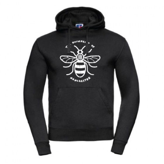 Distressed Manchester Bee Hoodie - Black
