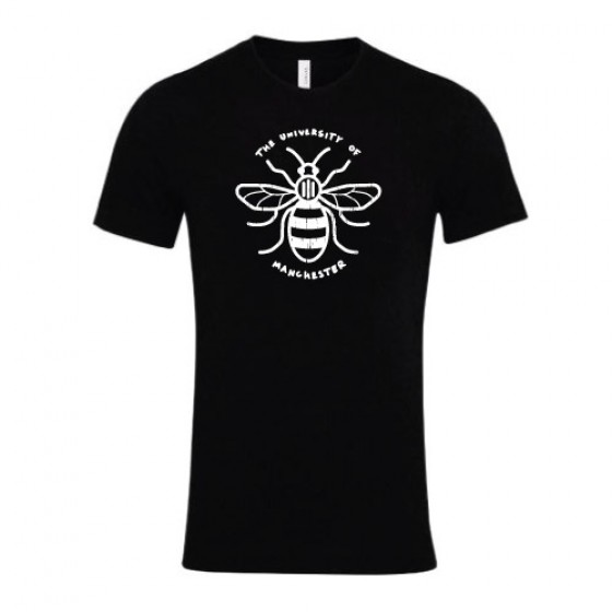 Distressed Manchester Bee T-Shirt - Black
