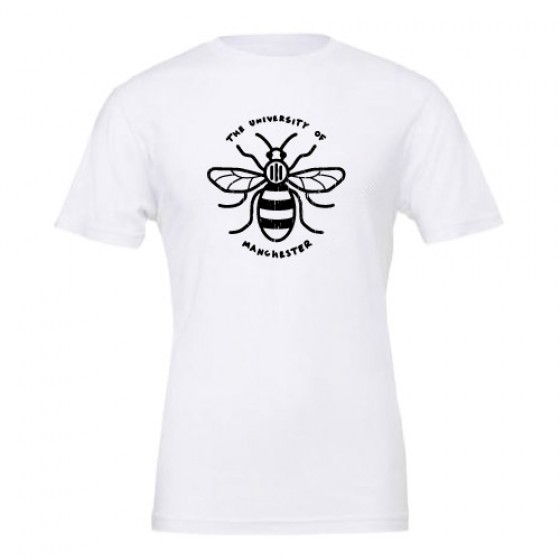 Distressed Manchester Bee T-Shirt - White