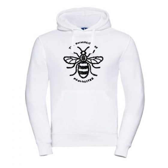 Floral Manchester Bee Hoodie - White