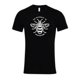 Floral Manchester Bee T-Shirt - Black