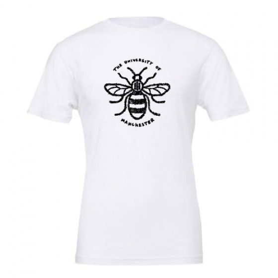 Floral Manchester Bee T-Shirt - White